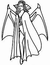 Vampire Coloring Pages Female Printable sketch template