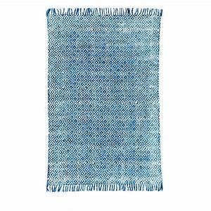 Tapis En Coton : tapis en coton indigo tiss main drawer tikola drawer ~ Nature-et-papiers.com Idées de Décoration