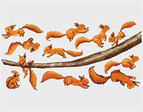 Wandtattoo Kinderzimmer Eichhörnchen by Wandtattoo Eichh 246 Rnchen Halt Dich Sticker Set