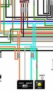 Honda Cb450 Cl450 Cb500 Colour Electrical Wiring Loom Diagram