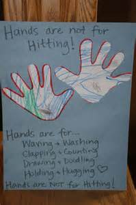 Hands Are Not for Hitting Activities