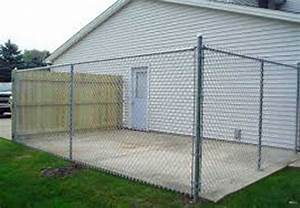 Enclosures chainlink slats garden fencing gates for Dog fence enclosure