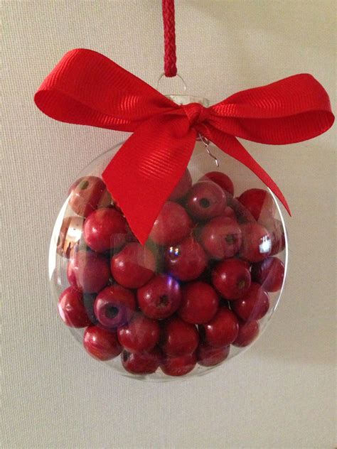 wood cranbery beads for christmas trees cranberry wood garland in clear ornament container