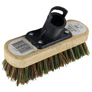 harris victory 7in stiff wooden broom deck scrub brush at just99