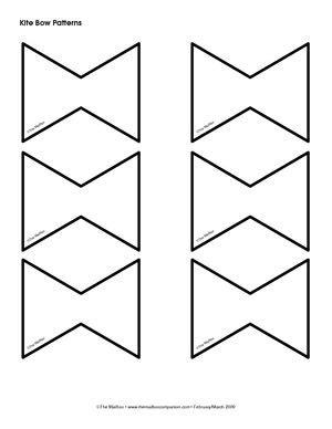 kite tail pattern  education center mailbox kites