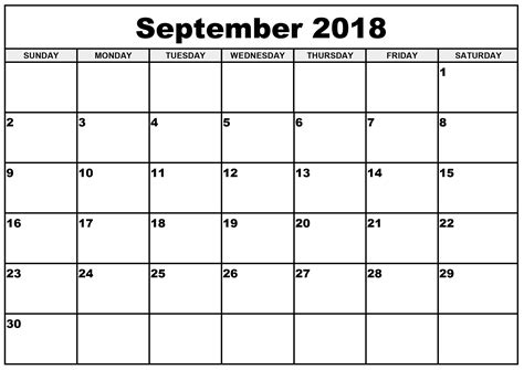 september month calendar  start  monday
