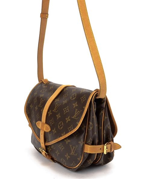 lyst louis vuitton monogram saumur  shoulder bag  brown