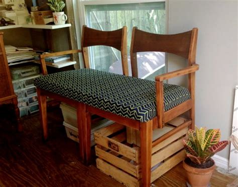 How To Make A Settee by Tutorial Make A Settee Bench From Two Chairs