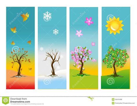 les quatre saisons illustration stock image 39416488