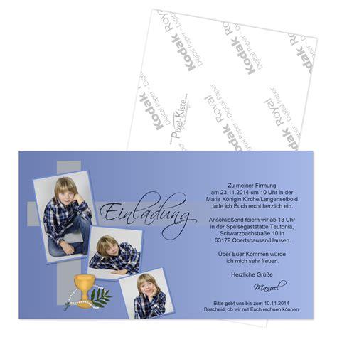 einladungskarte kommunion firmung konfirmation mit foto