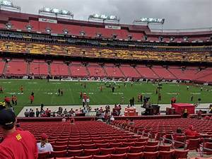 Redskins Seating Chart View Fedexfield Section 102 Rateyourseats Com