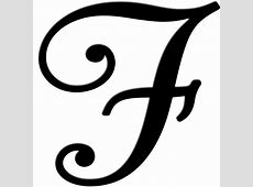 fancy cursive letter f letters example
