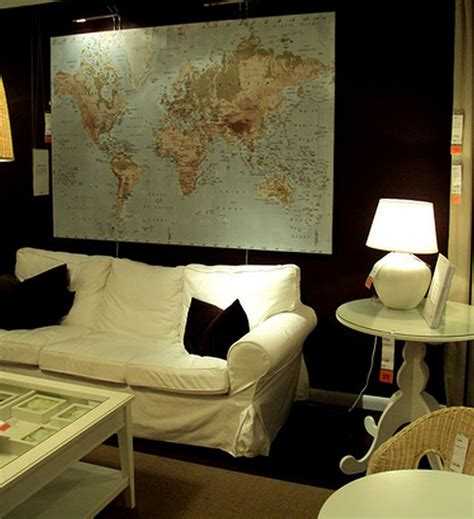 ikea premiar world map canvas wall art print  frame