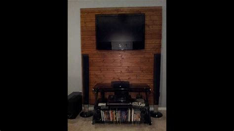 for tv over fireplace how to make a wooden tv accent wall youtube