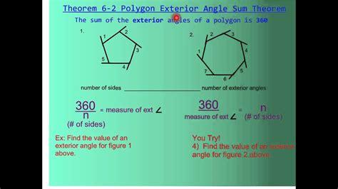 polygon angle sum theorem youtube