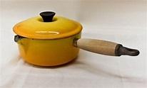 Vintage Le Creuset Spouted Saucepan w/ Lid Yellow | Etsy ...