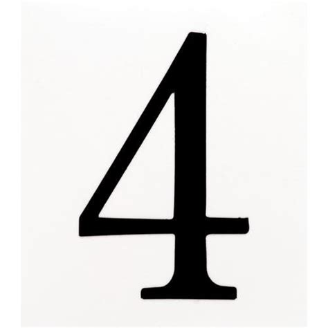 Number 4 Clipartsco