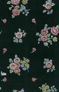 black floral vintage wallpaper pink blue yellow sm2147 d rs