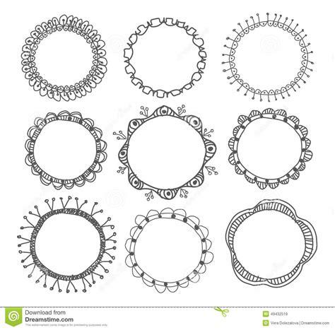 hand drawn circle frames stock vector image