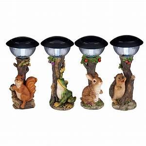 Lampe De Jardin : lampe solaire animal mod les cureuil grenouille lapin h risson ~ Teatrodelosmanantiales.com Idées de Décoration