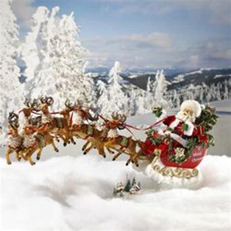 Weihnachtsdekoration Schlitten by Santa Sleigh Reindeer Decoration