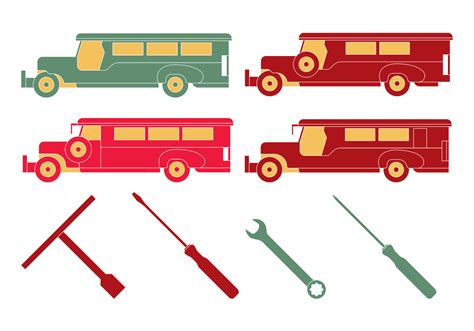 philippines jeepney vector philippine jeepney mechanic tools download free vector
