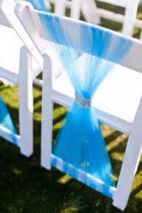 wedding chair sashes wedding ceremony chair décor with tulle decoration trend