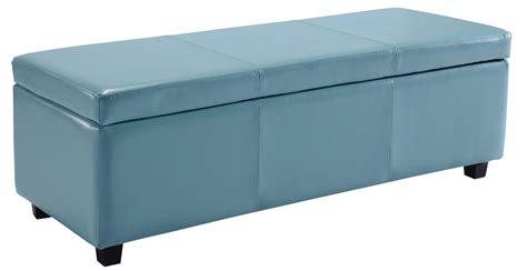 large square storage ottoman amazon com simpli home avalon rectangular faux leather