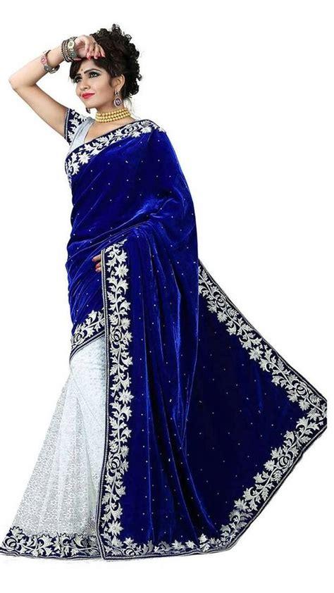 black table runner buy fog designer blue velvet fancy saree