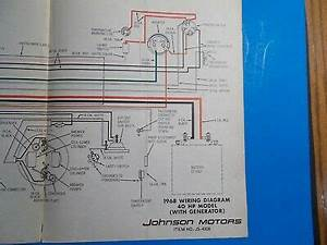 1968 Johnson Outboard Motors 40hp Model With Generator