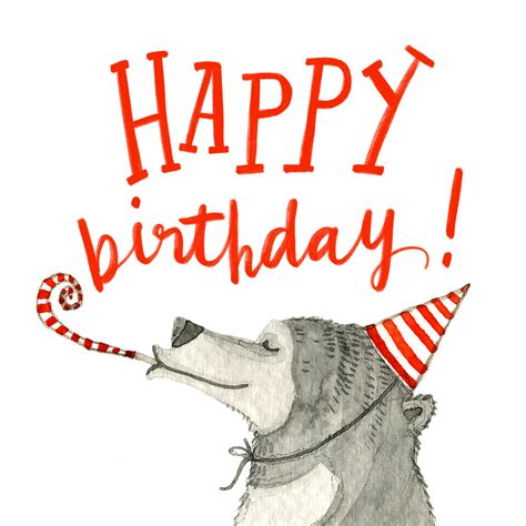 beary happy birthday card   island