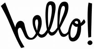 Hello Black Font Image - Images, Photos, Pictures