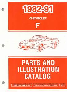 1982-1992 Camaro Parts And Illustration Catalog