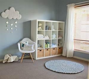 amenagement chambre bebe et deco idees et conseils utiles With chambre bébé design avec fleurs panier