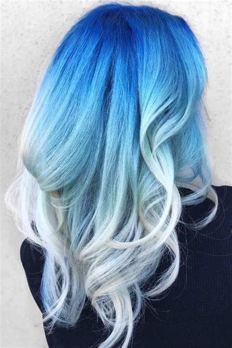 30 Trendy Styles For Blue Ombre Hair Hair Color Blue