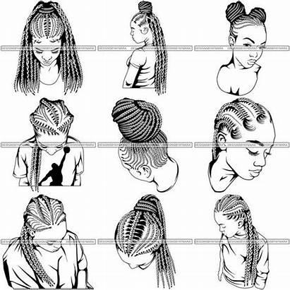 Svg Braids Woman Afro Dreads Silhouette Dreadlocks
