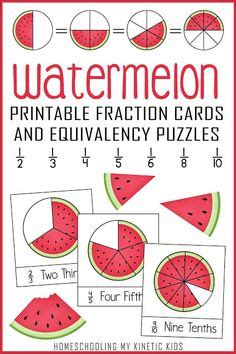 Apple Fractions Math with Real Apples and Free Printable ...