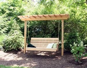 Red Cedar Marqui Arbor Pergola Swing Plans Images