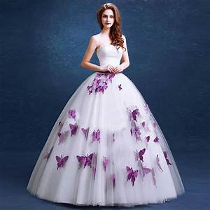 elegant purple wedding dress 2016 fashionable butterfly With purple dresses for weddings