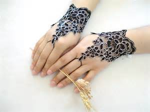 black lace gloves lace wedding accessory bridal accessory