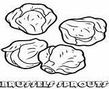 Coloring Pages Sprouts Vegetable Brussels sketch template