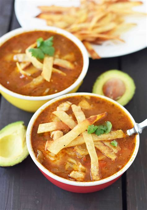 tortilla soup chicken homemade strips recipe ever those mexican modernhoney healthy honey avocado filling fresh modern chilly fall perfect