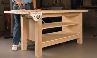 Plywood Garage Cabinets by Rock Solid Plywood Bench Startwoodworking Com