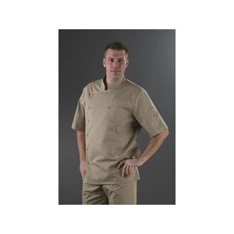 chemise de cuisine chemise de cuisine beige manches courtes my tablier