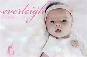 Baby Girl with the Name Everleigh