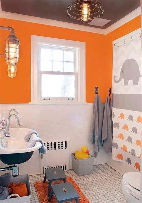 Orange Bathroom Wall Decor by 50 Cool Orange Bathroom Design Ideas Digsdigs