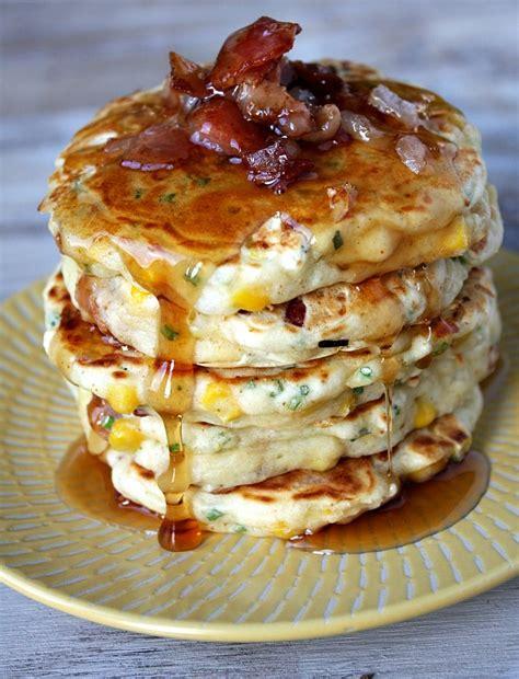 bacon  corn griddle cakes  susan weissman