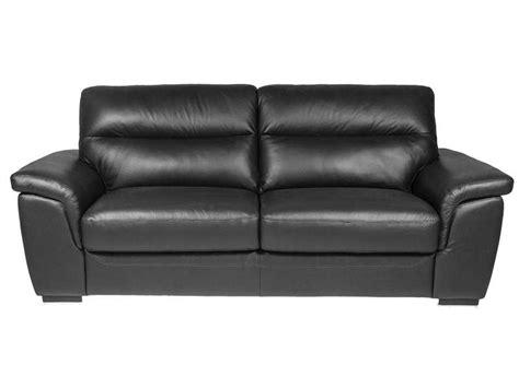 canapé conforama cuir canapé fixe 3 places en cuir coloris noir vente