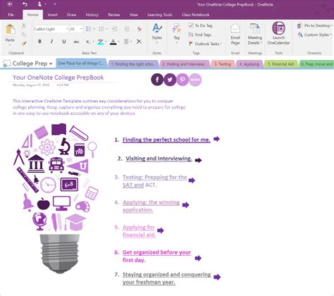 onenote templates 2016 microsoft onenote offers up a chance to win a surface tablet for the college bound on msft