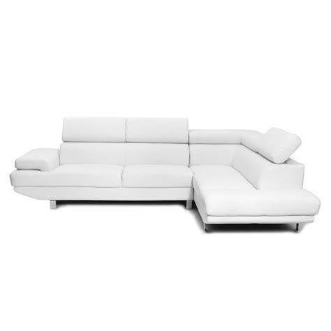 canapé miliboo miliboo canapé d 39 angle en cuir blanc avec têt achat